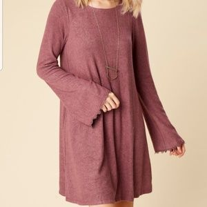 Altar'd State Marquette Purple Bell Sleeve Dress